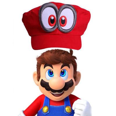 Erwachsene Kinder Super Mario Bros Mario Odyssey Cosplay Snapback Cap Hat Mütze  ()
