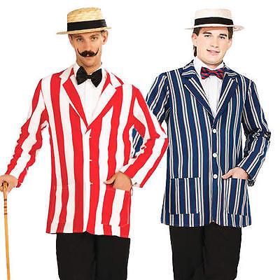 1920s Old English Jacket + Hat Mens Fancy Dress 20s Victorian Adults Costume - Old English Kostüm