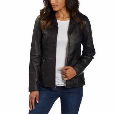 Andrew Marc New York Women's Black Leather Jacket MEDIUM New w Tags! Marc New York Black Jacket