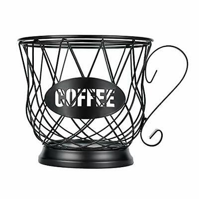 Coffee Pod Holder Large Capacity for Counter Capsule Storage for 40 K Cups Black