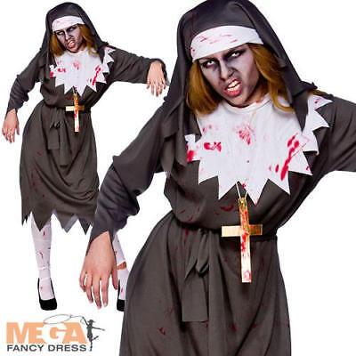 Zombie Sister Nun Ladies Halloween Fancy Dress Religious Saints Sinners Costume