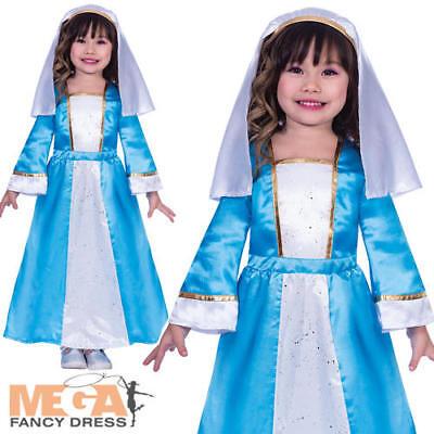 Mary Girls Fancy Dress Christmas Nativity Play Kids Childs Festive Xmas Costume  (Kids Childs Play Kostüm)