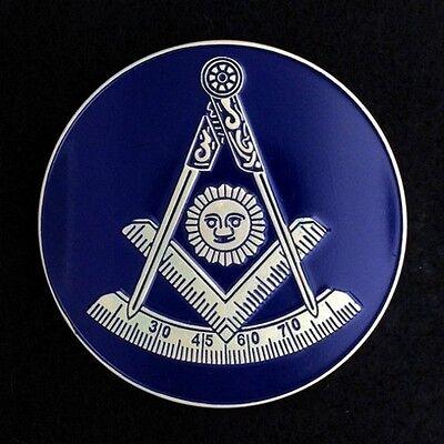 Masonic Past Master Car Auto Emblem (Dark Blue) PMA-2