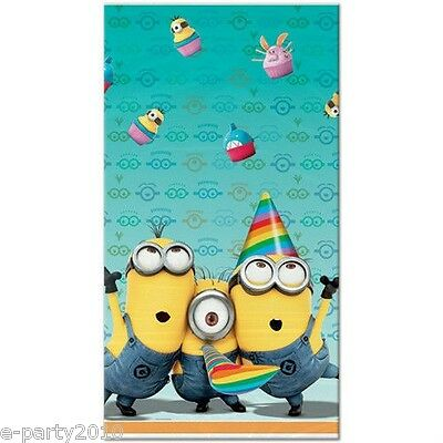 DESPICABLE ME 2 PLASTIC TABLE COVER ~ Birthday Party Supplies Minions Cloth ()