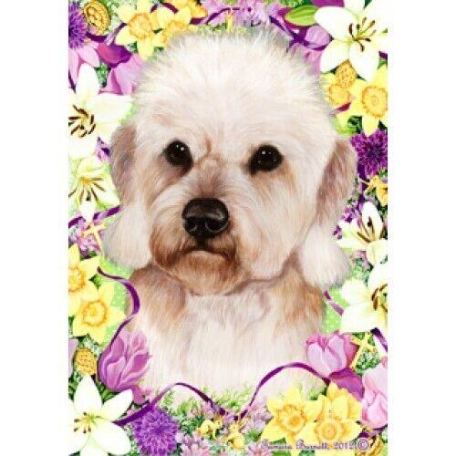 Easter House Flag - Mustard Dandie Dinmont Terrier 33210