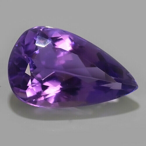 9.52 Cts Natural Amethyst Loose Gemstone Pear Cut Refer video