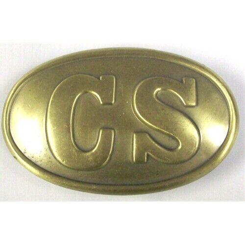 CIVIL WAR USA WAIST BELT PLATE - CSA Confederate CS Metal Replica Belt Buckle