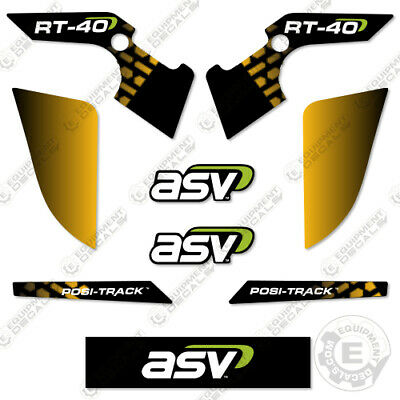 Asv Rt-40 Decal Kit Skid Steer Replacement Stickers - 7 Year Outdoor 3m Vinyl