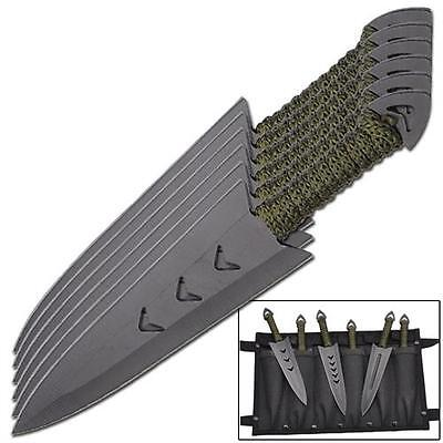 Warrior Throwing Knives - Apache Warrior Arrowhead Target Practice Throwing Knife Set of Six