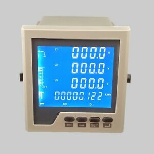 LCD multifunction electrical instrument digital panel meter