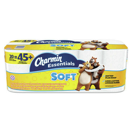 Charmin 96609 200/Roll 20/Pack Septic Safe 2-Ply Soft Bathroom Tissue White New
