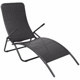**FREE UK DELIVERY** Foldable Sun Lounger Deck Chair - BRAND NEW!