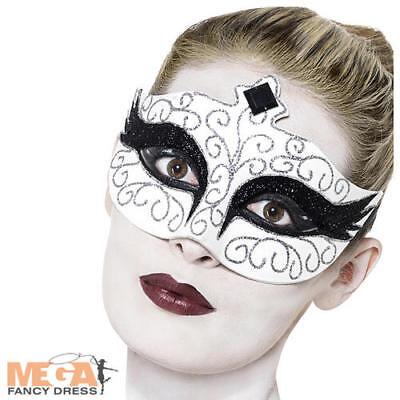 Gothic Black Swan Halloween Eye Mask Ladies Masquerade Fancy Dress Costume Acces ()