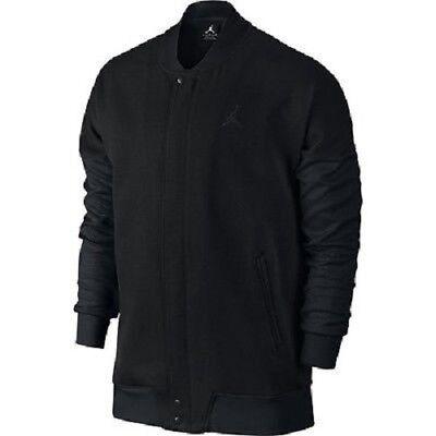 edee885cdcd Nike Air Jordan Varsity Jacket Black Tech Fleece Men's SZ 2XL MSRP $130 NEW