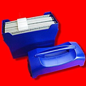 QUALITY-LEITZ-HOME-FILE-PLASTIC-FILING-BOX-ORGANISER-INC-10X-A4-SUSPENSION-FILES