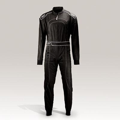 Overall schwarz Rennfahrer Kostüm Neu Gr. 140-XXL