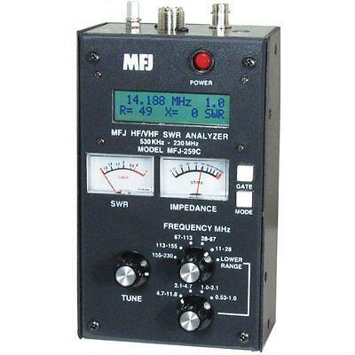 MFJ-259C Antenna Analyzer- 530 KHz - 230 MHz - US Seller - Fast Shipping!