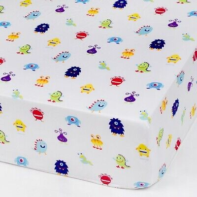 Olive Kids Monsters Fitted Crib Sheet Bedding Wildkins NIP
