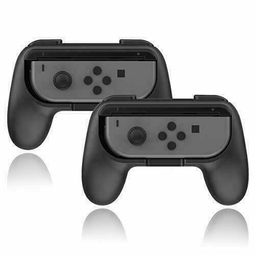 New Black 2pcs Joy-Con Grips Compatible with Nintendo Switch 1 year Guarantee Controllers & Attachments