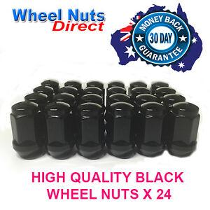 TOYOTA HILUX BLACK WHEEL LUGS NUTS X 24