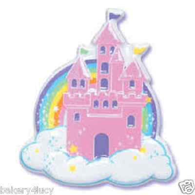 POP TOP PRINCESS CASTLE PINK BIRTHDAY LAYON PARTY DECORATION (Cupcake Castle)