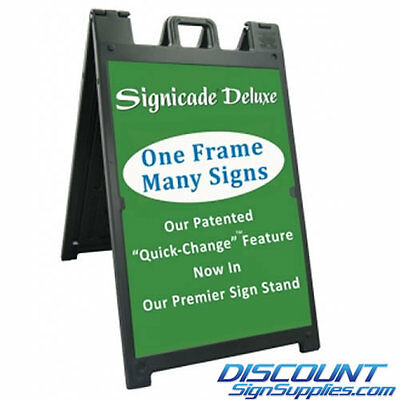 Signicade Deluxe Plastic A-frame Black