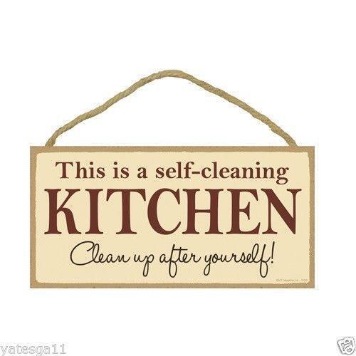 Kitchen Signs Ebay: Kitchen Wood Sign