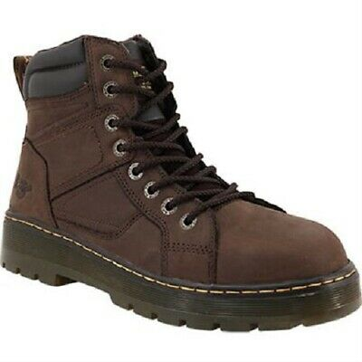 Mens Size US 8 9 10 11 Doc Dr Martens Duct 16262 Steel Work Safety Brown (Doc Martens Steel Toe Boots)