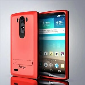 Red LG G3 Case Cover Armor Defender 4 Layer Case Kickstand