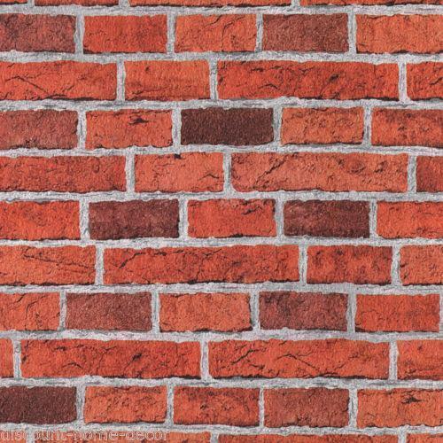 Textured Brick Effect Wallpaper | eBay