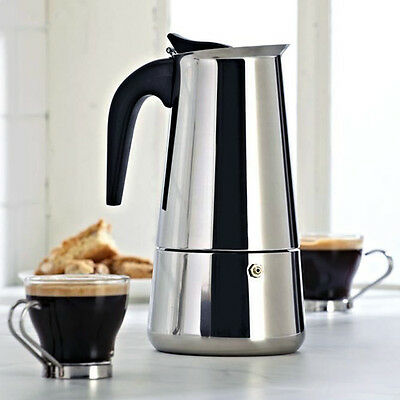 6 CUP CONTINENTAL ESPRESSO COFFEE MAKER STAINLESS STEEL STOVE TOP PERCOLATORPOT
