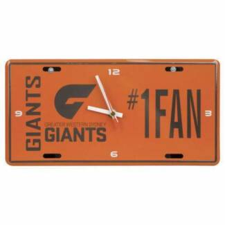 AFL GWSG Greater Western Sydney Giants License Number Plate Clock