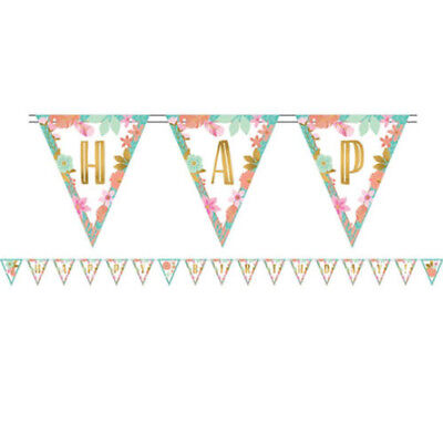 1st BIRTHDAY Boho Girl PENNANT BANNER KIT ~ Party Supplies Hanging (1st Birthday Girl Decorating Kit Party Supplies)