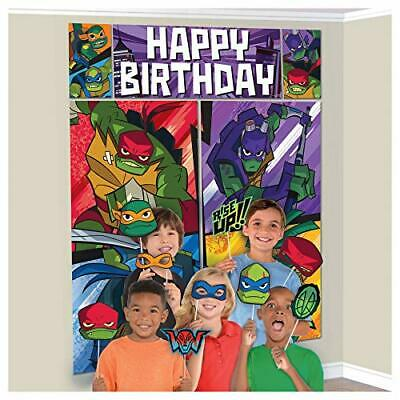 Ninja Turtle Party Decorations (NINJA TURTLE WALL BANNER DECORATING KIT Party Supplies +12 photo)