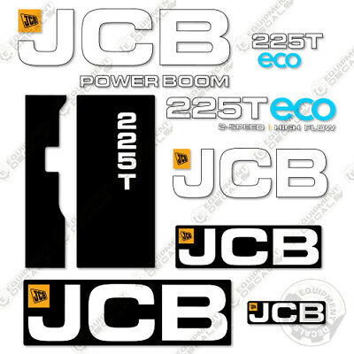 Jcb 225t Decal Kit Skid Steer Ver 2 Replacement Stickers Heavy Equipment Decals
