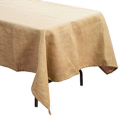 Burlap Tablecloth. A rustic and vintage look Country or Western Decorations (Country Western Decorations)