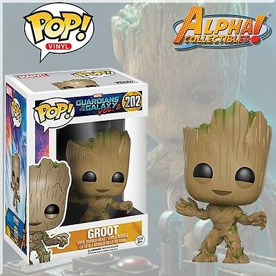 Funko Pop  202 Marvel Guardians Of The Galaxy Vol 2  Toddler Baby Groot