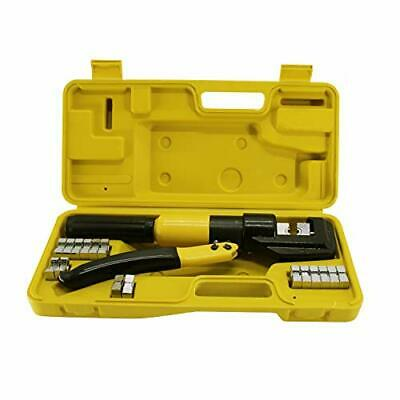 Hfsr 10t Hydraulic Wire Terminal Crimper Battery Cable Lug Crimping Tool 9dies