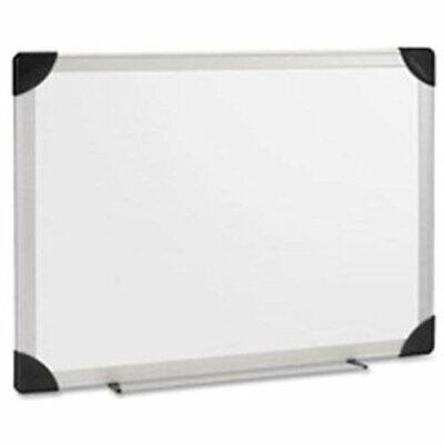 Lorell Aluminum Frame Dry Erase Board - 48 Width X 72 Height - White Styrene