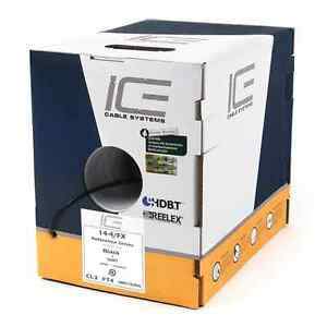 ICE cable systems 14-4FX reference series speaker cable (black)