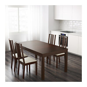 Almost New Premium IKEA Extendable Dinning Table,4 Luxury Chairs