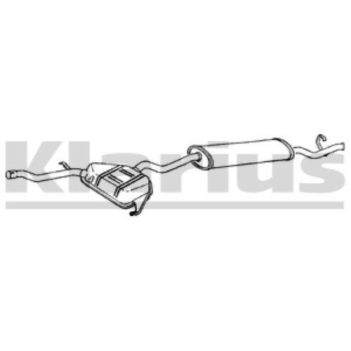 1x KLARIUS OE Quality Replacement Rear / End Silencer Exhaust For FIAT Petrol
