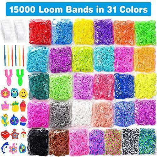 13500+ Loom Rainbow Rubber Bands Refill Kit for Boy Girl Weaving DIY Craft Gift