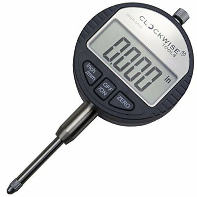 Clockwise Tools Digr-0105 Electronic Digital Dial Indicator Gage Gauge Inchm...