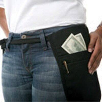 Cocktail Waiter Waitress Money Pouch Belt Black Fits Small Phablet Tablet