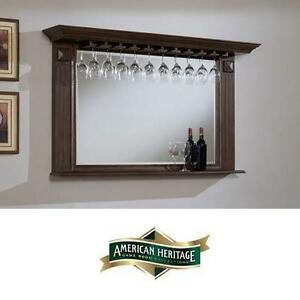 NEW* AHB ROMA BAR BEVELED MIRROR - 122769087 - AMERICAN HERITAGE BILLARDS PEWTER MIRRORS WINE RACK RACKS BARS STORAGE