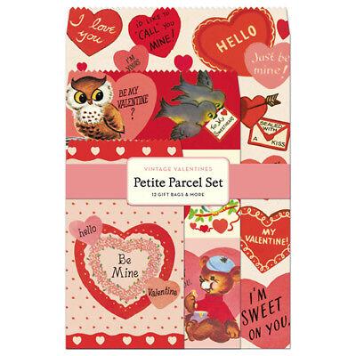 Cavallini & Co. Vintage Valentine Petite Parcel Set, Birthday Gift Wrap Bags](Tiny Gift Bags)