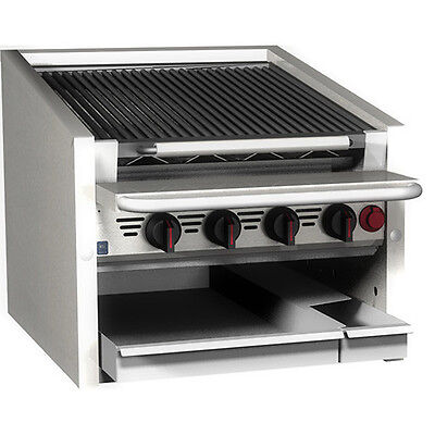 Magikitchn Cm-rmb-624 24 Countertop Stainless Steel Radiant Gas Charbroiler