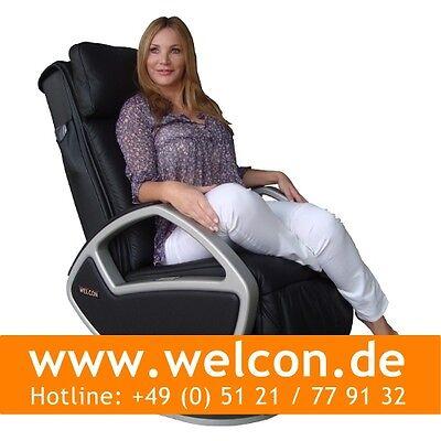 WELCON Space Massagesessel | Massagestuhl made by KEYTON - Leder schwarz ()