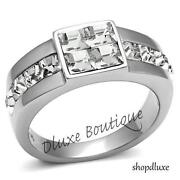 Mens Princess Cut Diamond Ring